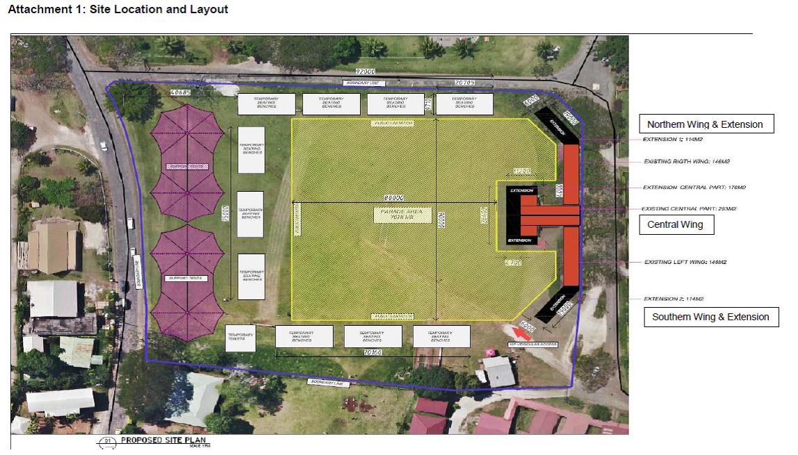 VT61 million Upgrade of Independence Park Grandstand