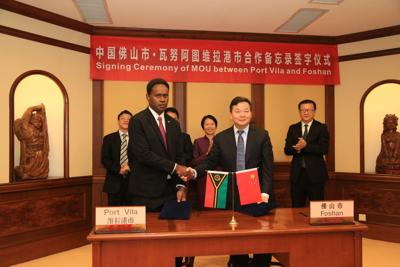 Sumptoh signs MOU on promoting exchanges and cooperation with Foshan City