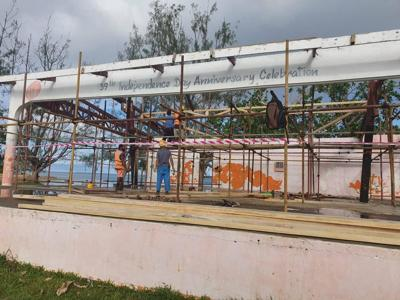 CCECC repairing cyclone-damaged SANMA and Luganville stages