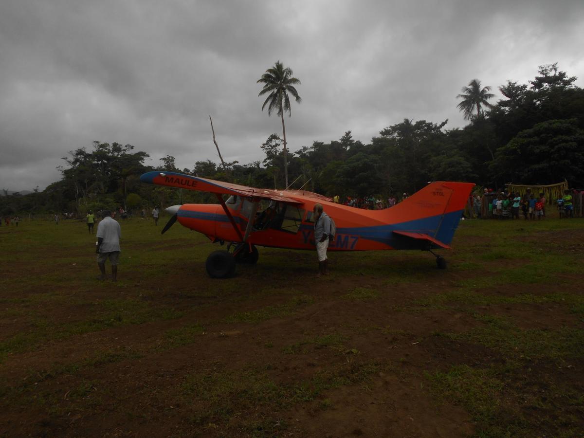 Test Landing at Mihapika airstrip