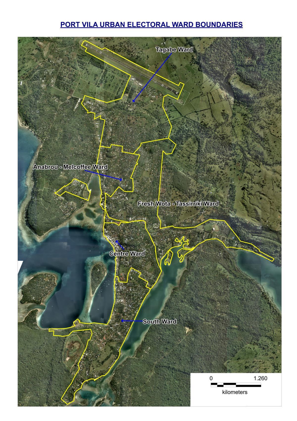 Port Vila Urban Electoral Ward Boundaries, Respect them: Tete