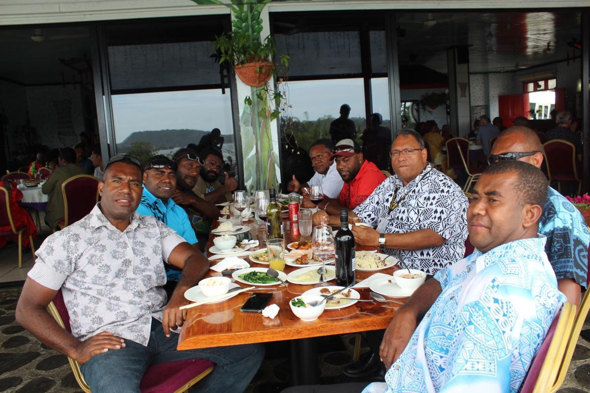 Municipal Council hosts lunch for Kassav' Band members