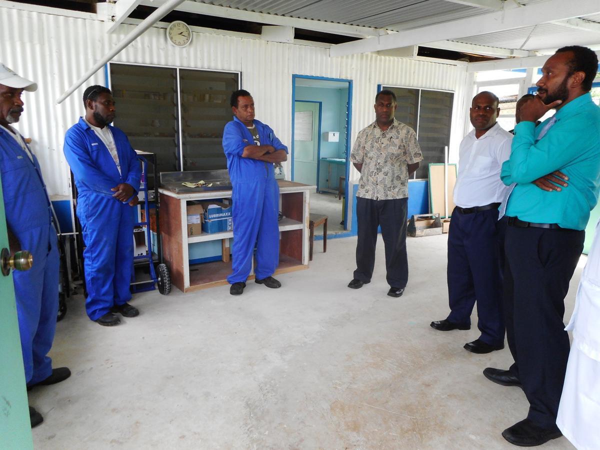 Minister Ludvanue visits Luganville health services staff