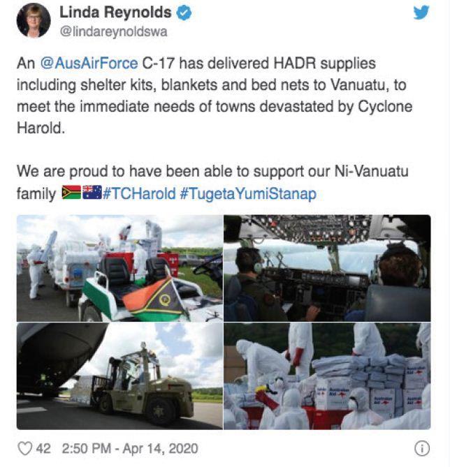 Defence looks at Chinese plane blocking Australian aid plane in Vanuatu