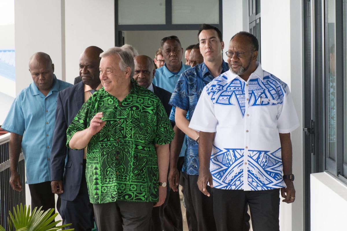 UN Sec Gen Antonio Guterres in Vanuatu