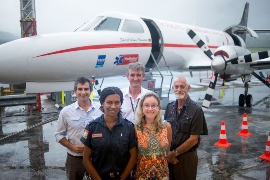 The South Pacific Air Ambulance aircraft