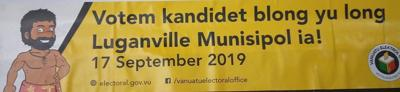 Luganville Municipal Council Election Today