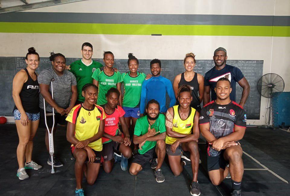 Vanuatu team participating in High Performance Programs