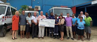 Kiwanis Club of Vanuatu Present Cheque to ProMedical