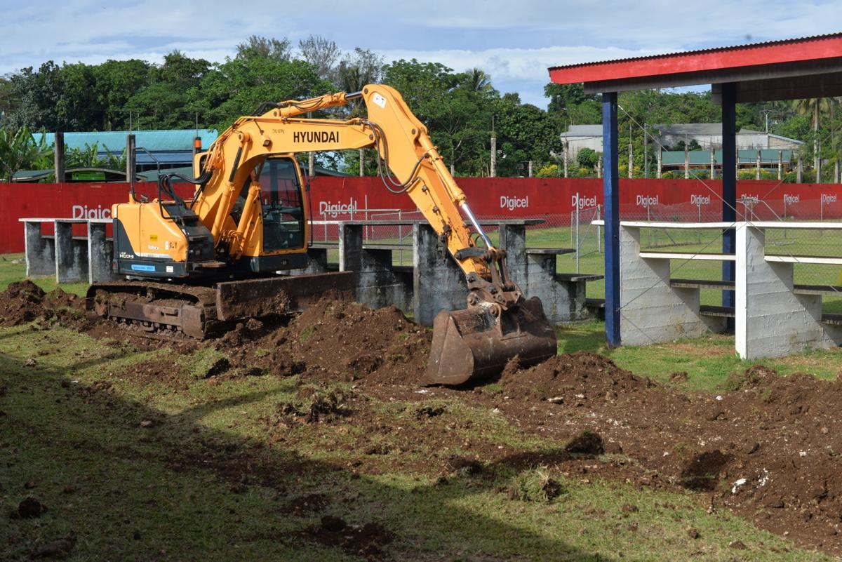 Wok blong apgradem Port Vila Stadium i stap kohed