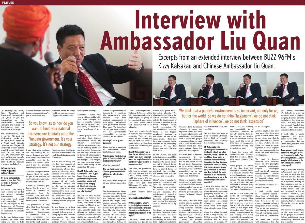 Interview with Ambassador Liu Quan