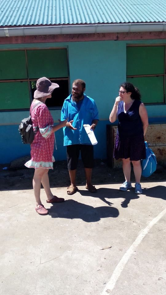 Tourists supply school stationaries for Primary Schools in Tafea