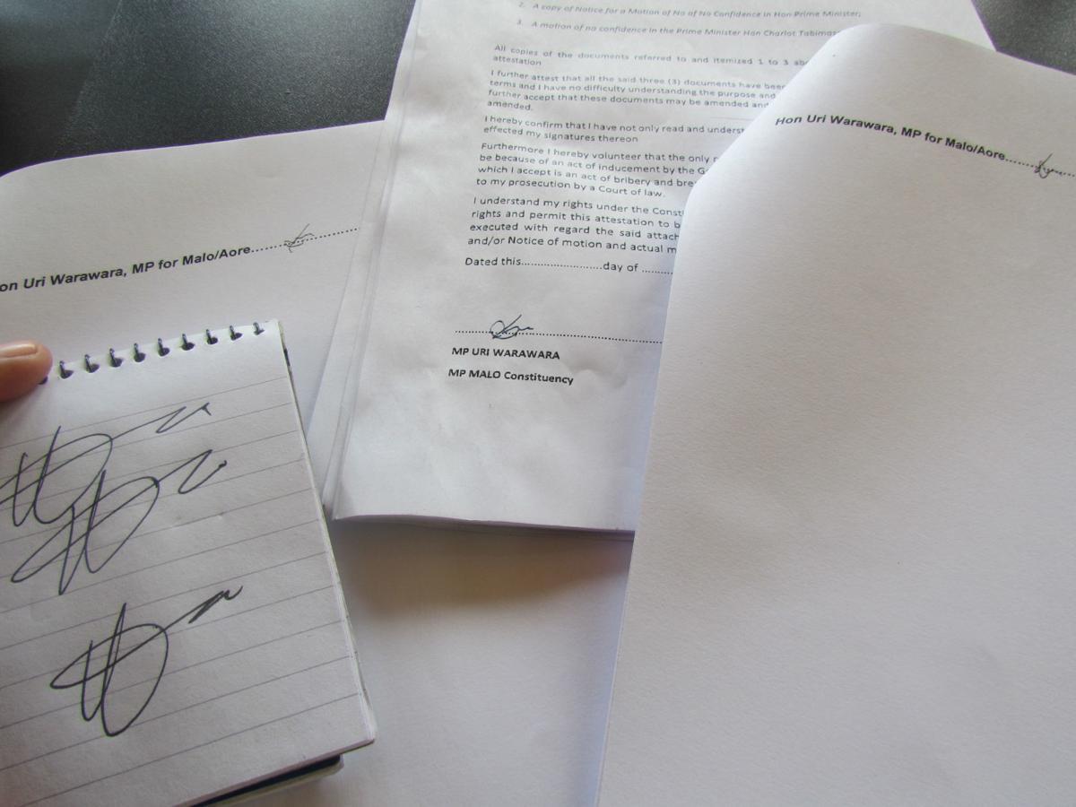 Uri Warawara signature