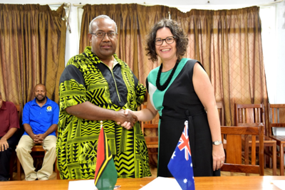 Australia supports Public Works Department's response to COVID-19 and TC Harold