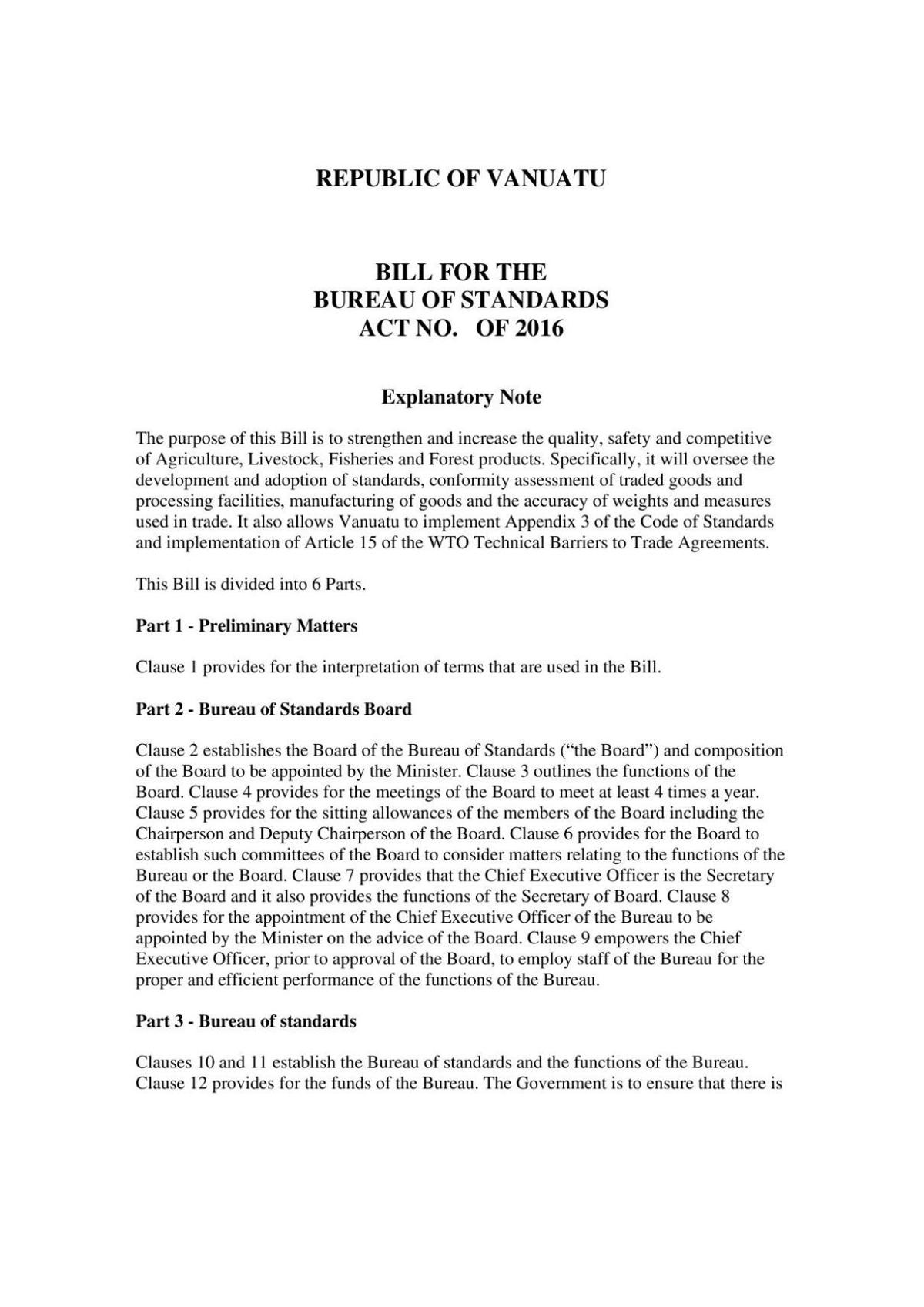 Bill for the Bureau of Standards Act No. of 2016.pdf