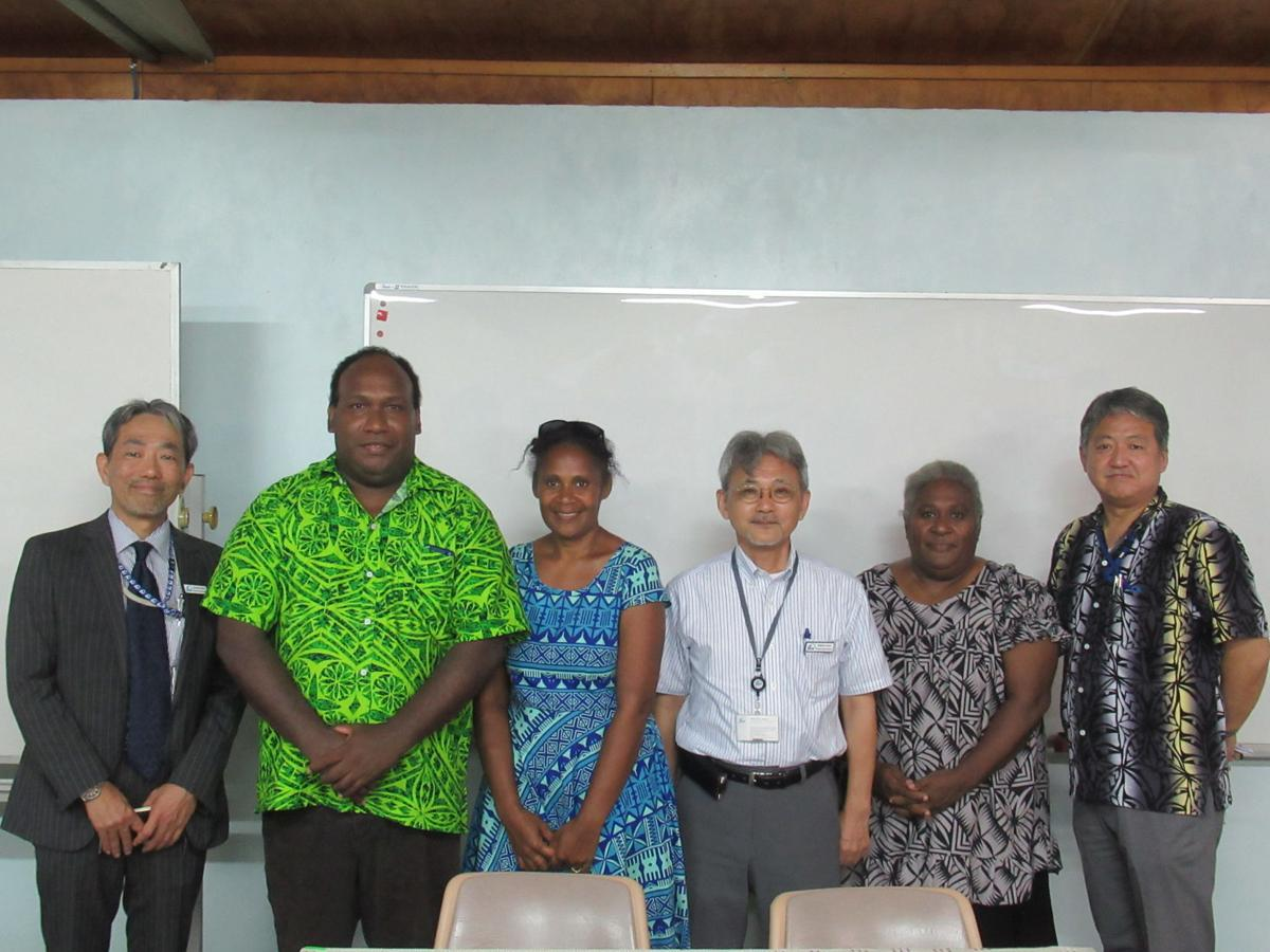 JICA Vanuatu trainee receives certificate after completing online training