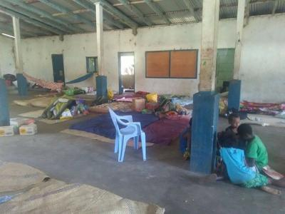 One dead in evacuation center