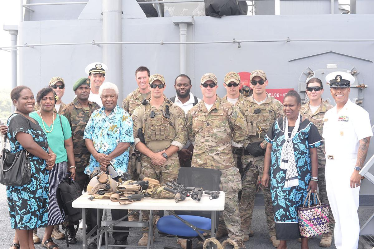 USS Rushmore on surveillance duties in Vanuatu EEZ