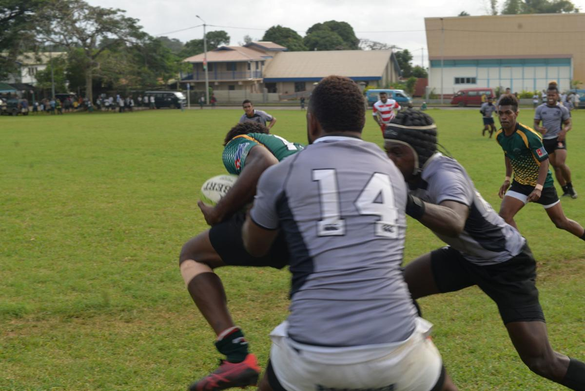 Ifira rugby men's XV fight till the final whistle
