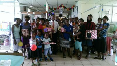 LDS Etas Ward Youths at VCH Children's Ward December 25