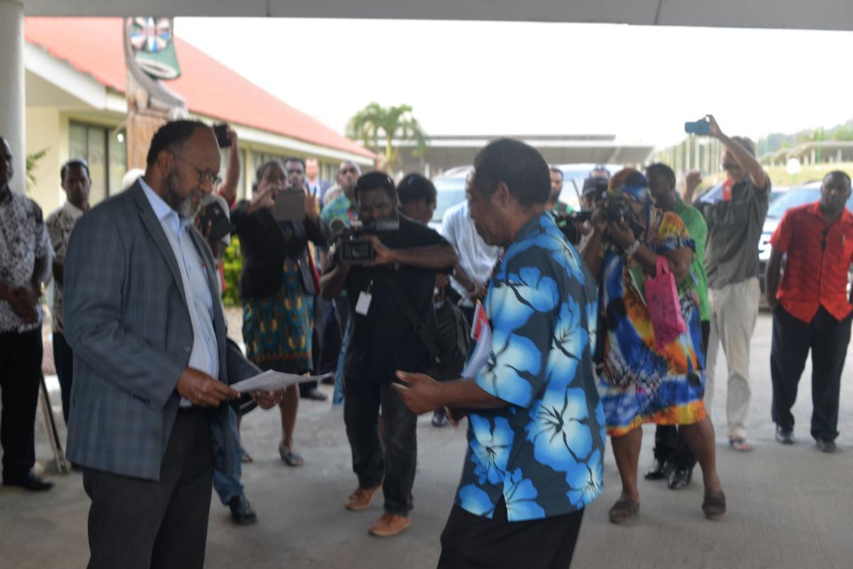VANGO presents West Papua petition to Government