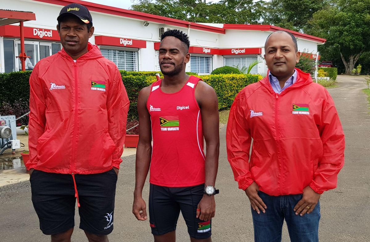 Team Vanuatu athletes get a boost from Digicel Vanuatu