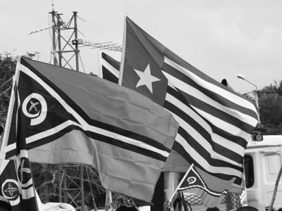 West Papua Flag flies on Vanuatu's 40th