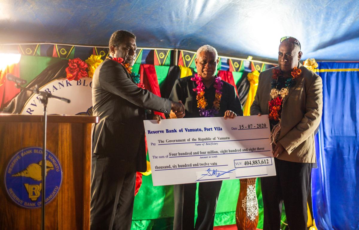 RBV pays historic dividend to Government