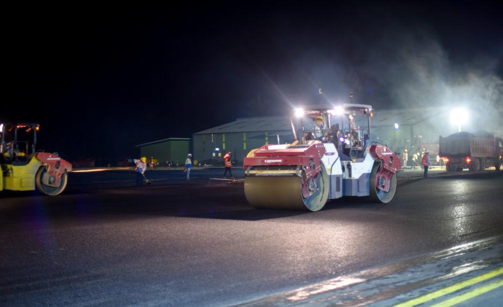 Bauerfield International Airport runway upgrade almost complete
