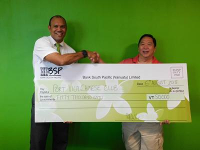 BSP supports Port Vila Chinese Club Fundraiser