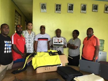 VFF receives gear from Japanese Football player