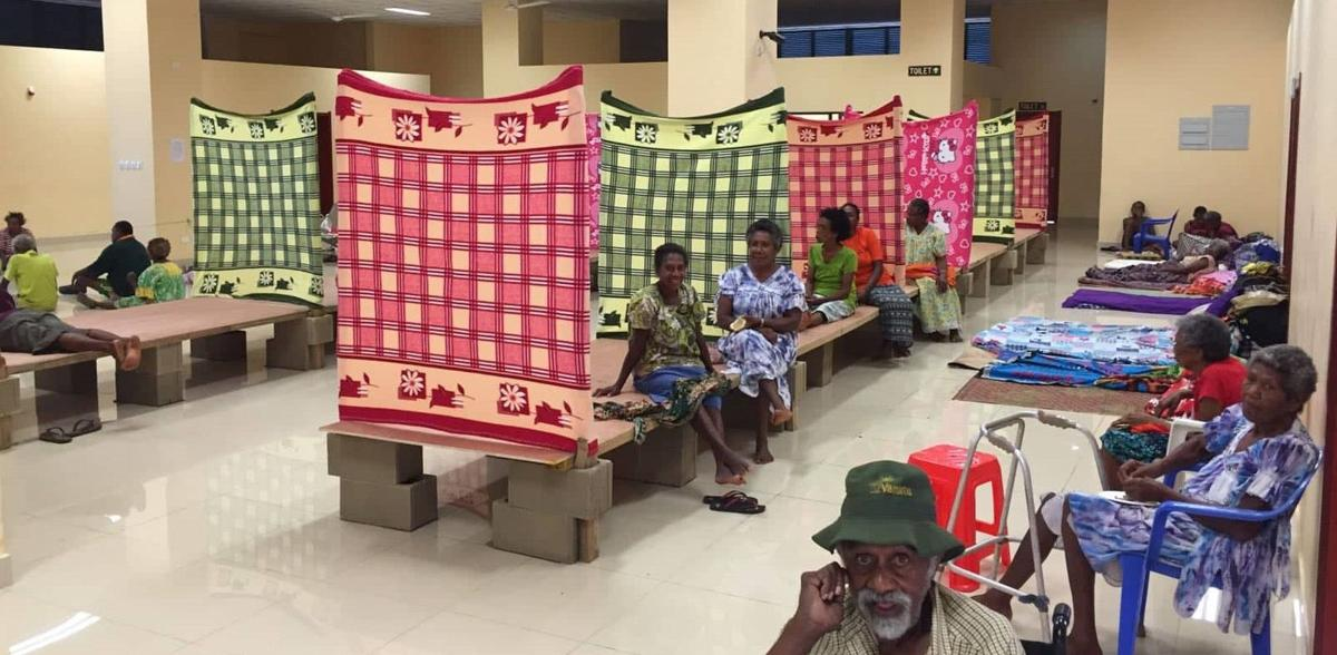 Beds for evacuees with disabilities