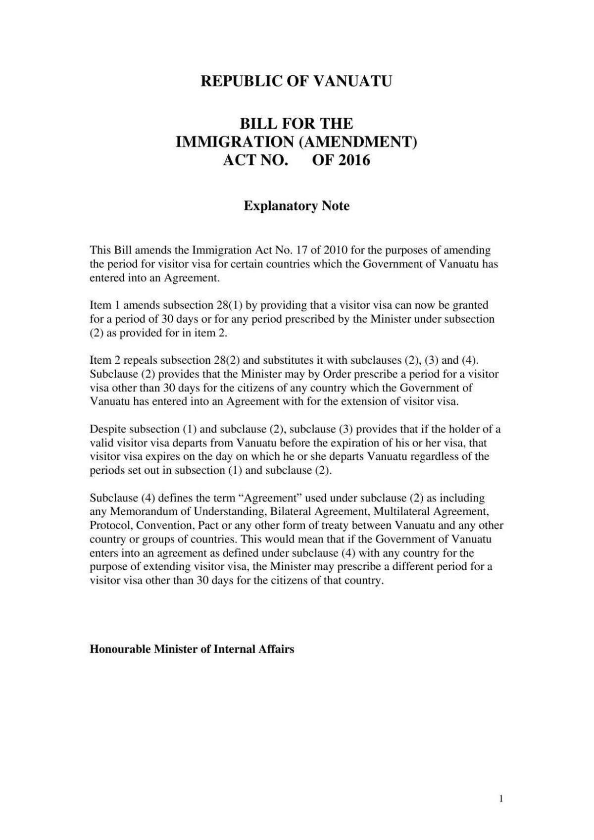 Bill for the Immigration (Amendment) Act No. of 2016.pdf
