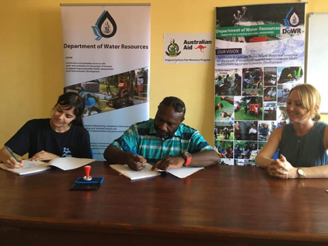 Department of Water Resources Improving Water Resilience on Ambae