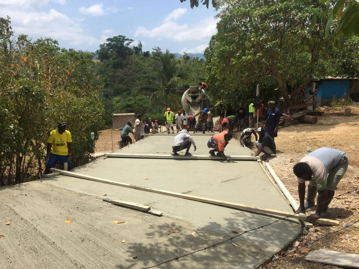 200 meter concrete road completes