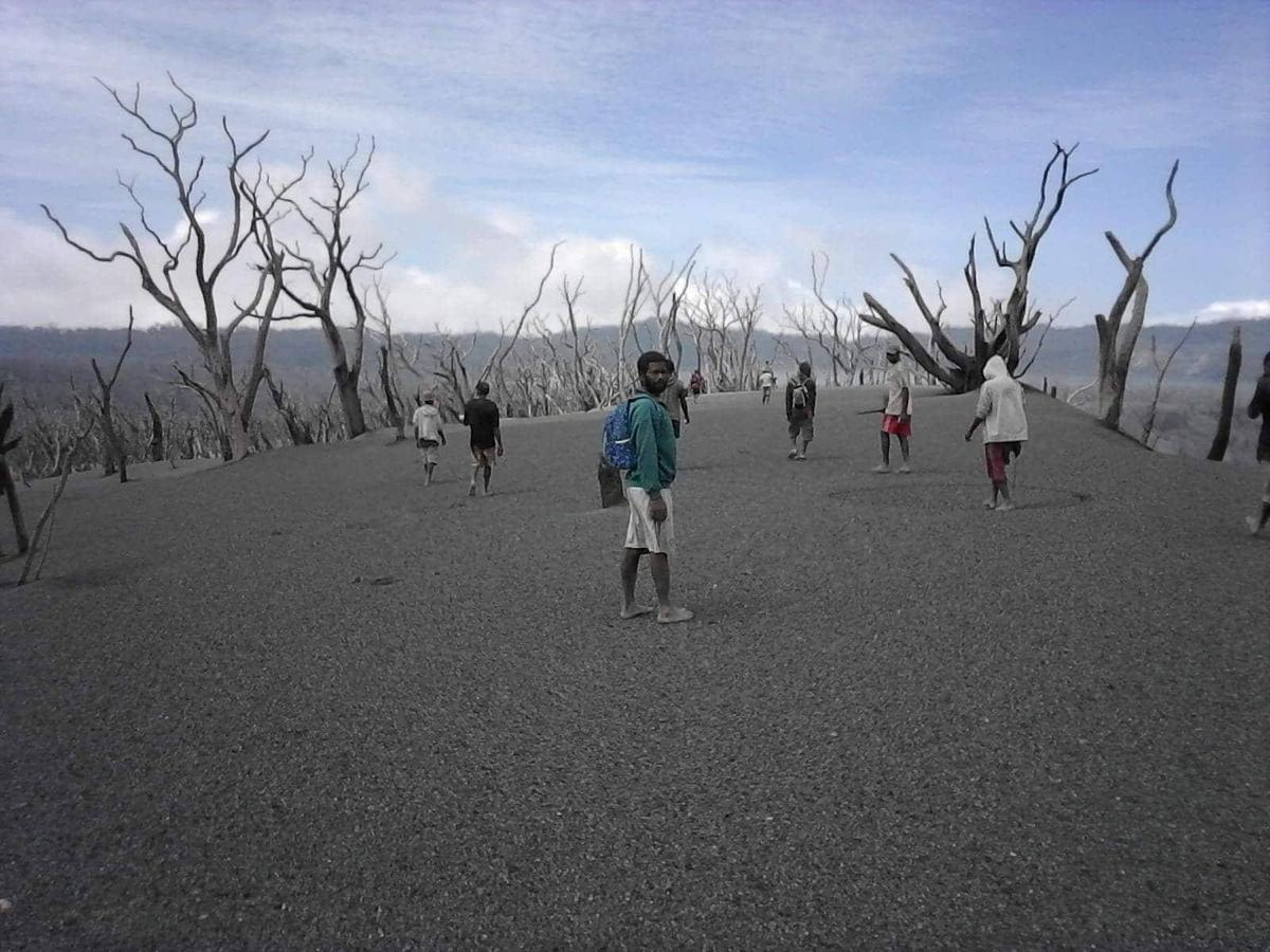 At the crater of Manaro volcano