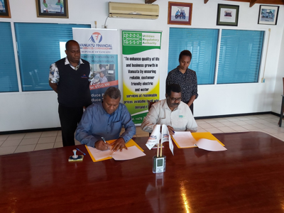 Utilities Regulatory Authority and Vanuatu Financial Services Commission sign MOA