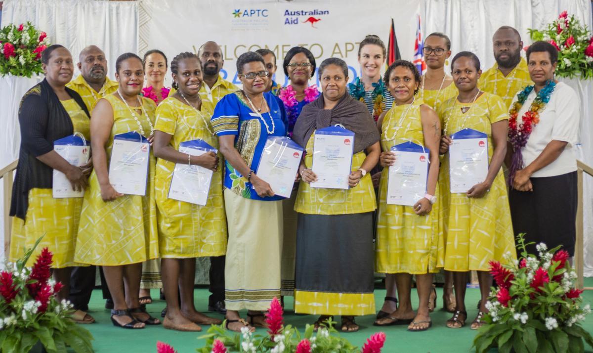 Tertiary Director encourages new APTC graduates to aim high