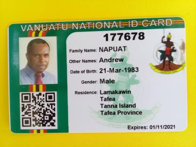 Vila citizens to use national ID card during Municipal election early next year