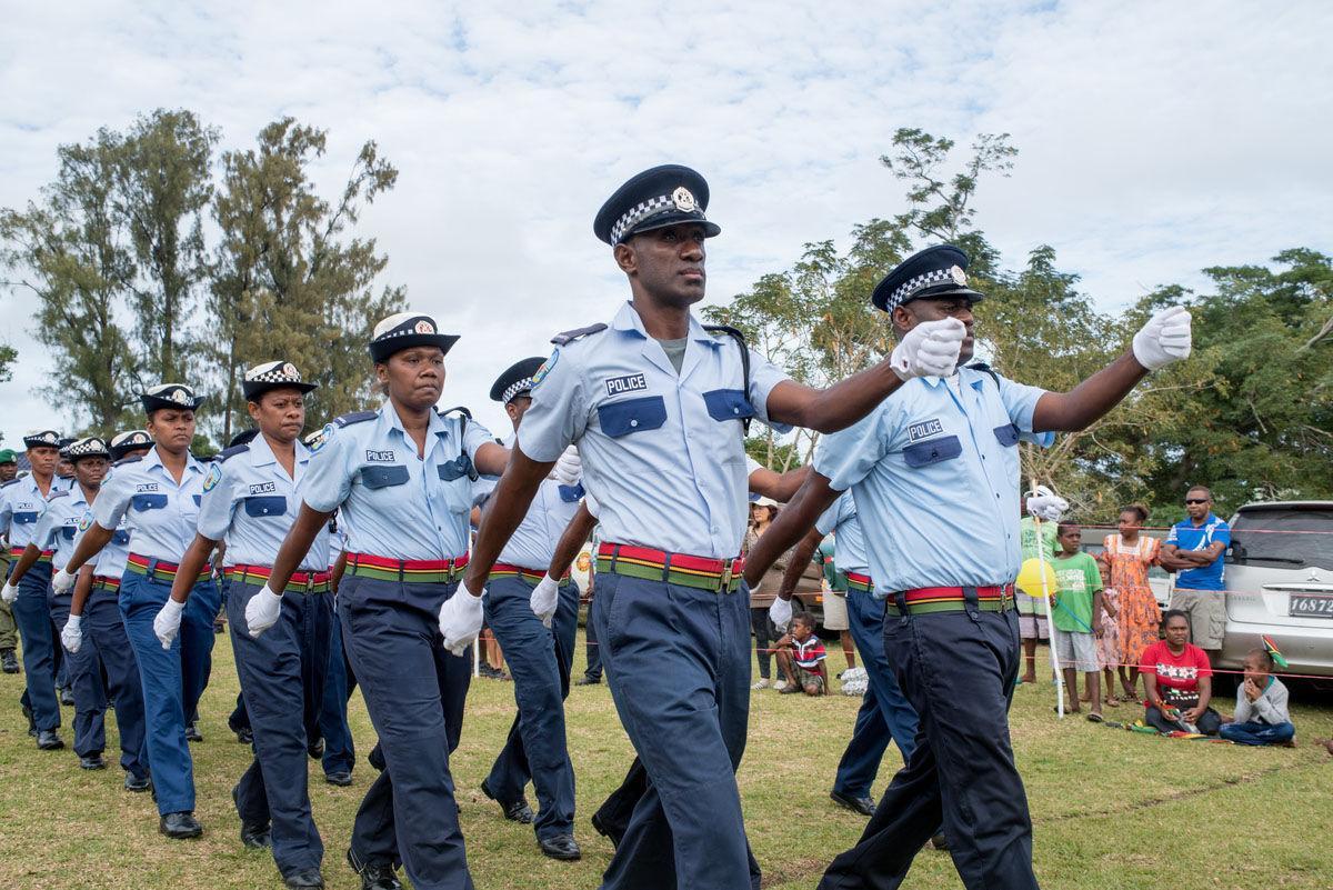 Some members of Vanuatu Police Force