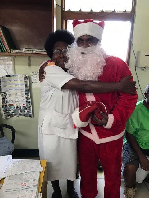 Nurse with Santa