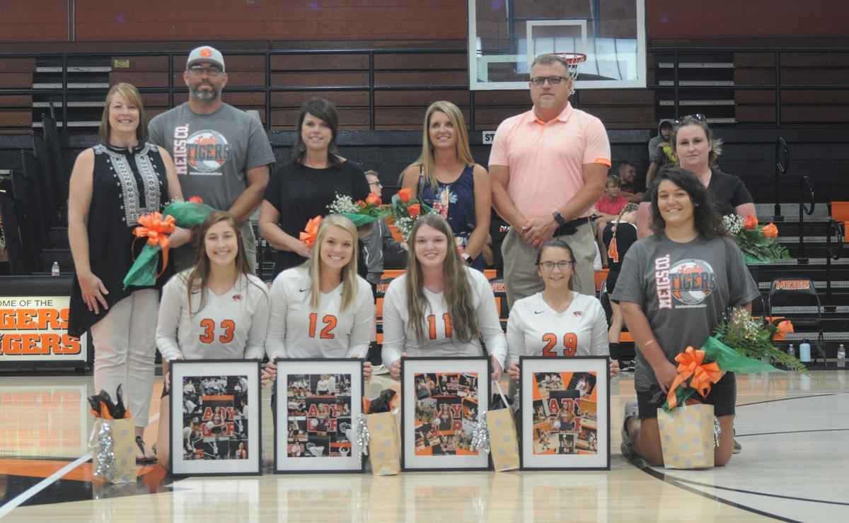 Meigs County volleyball Senior Night