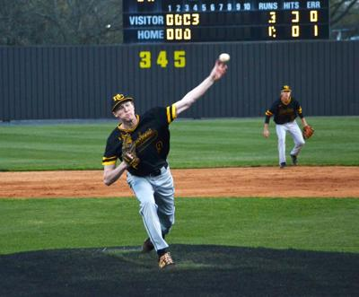 McMinn's Hayden Frank pitches