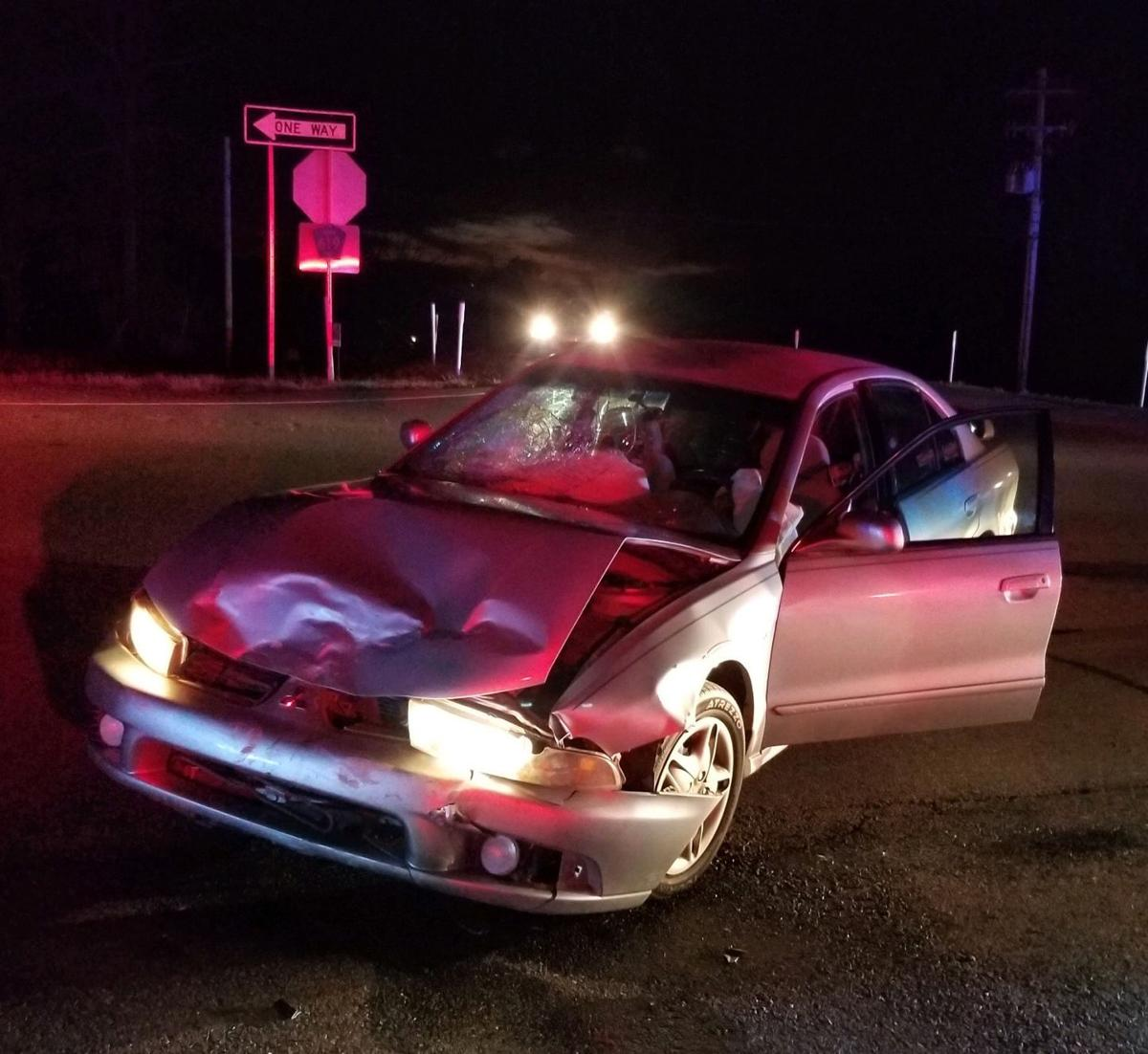 Two injured in Highway 30 wreck