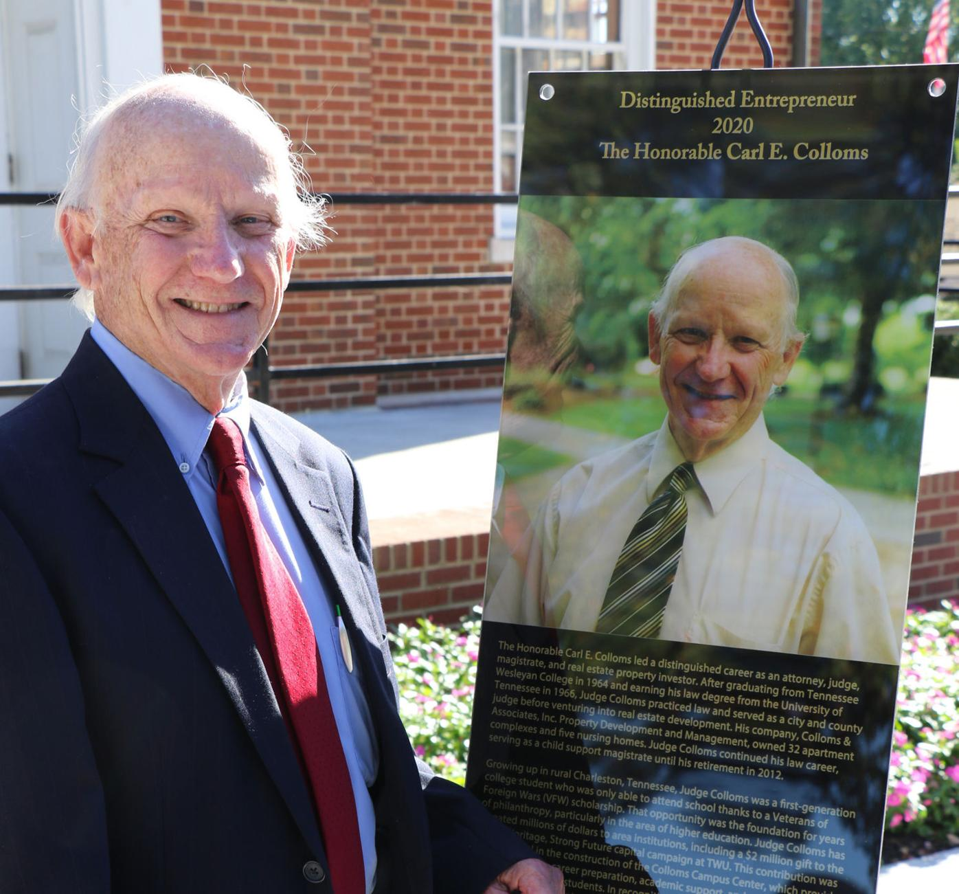 Colloms earns Distinguished Entrepreneur Award