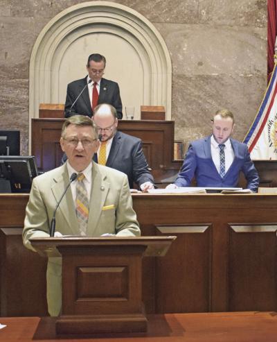 Howell on the House floor