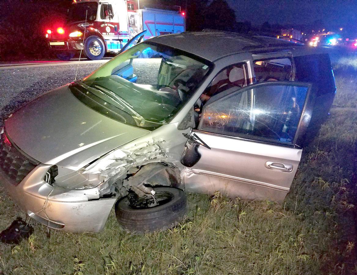 Wreck at an intersection near Etowah