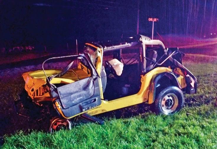 Wreck on Highway 411