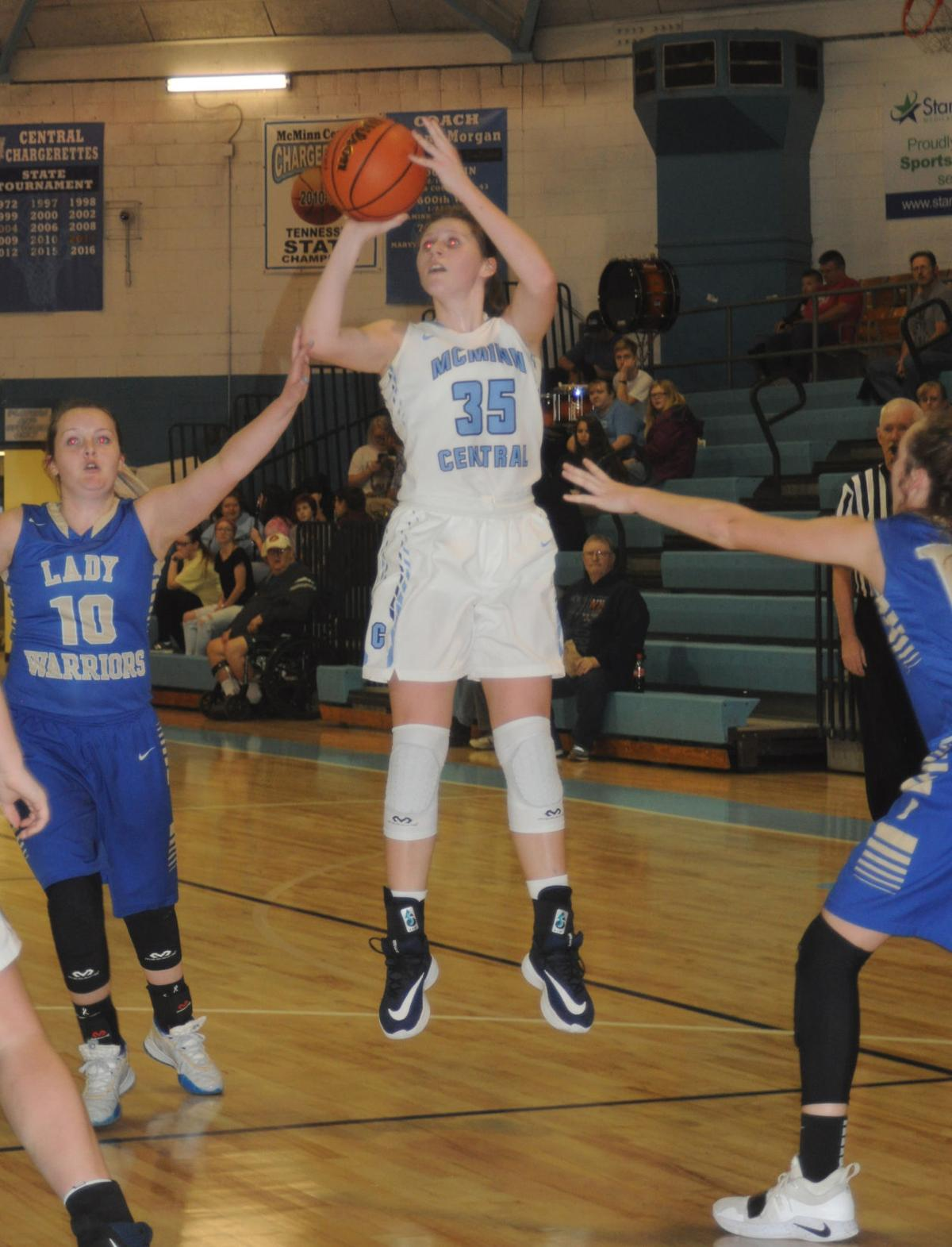 Central's Carsi Beaty pulls up
