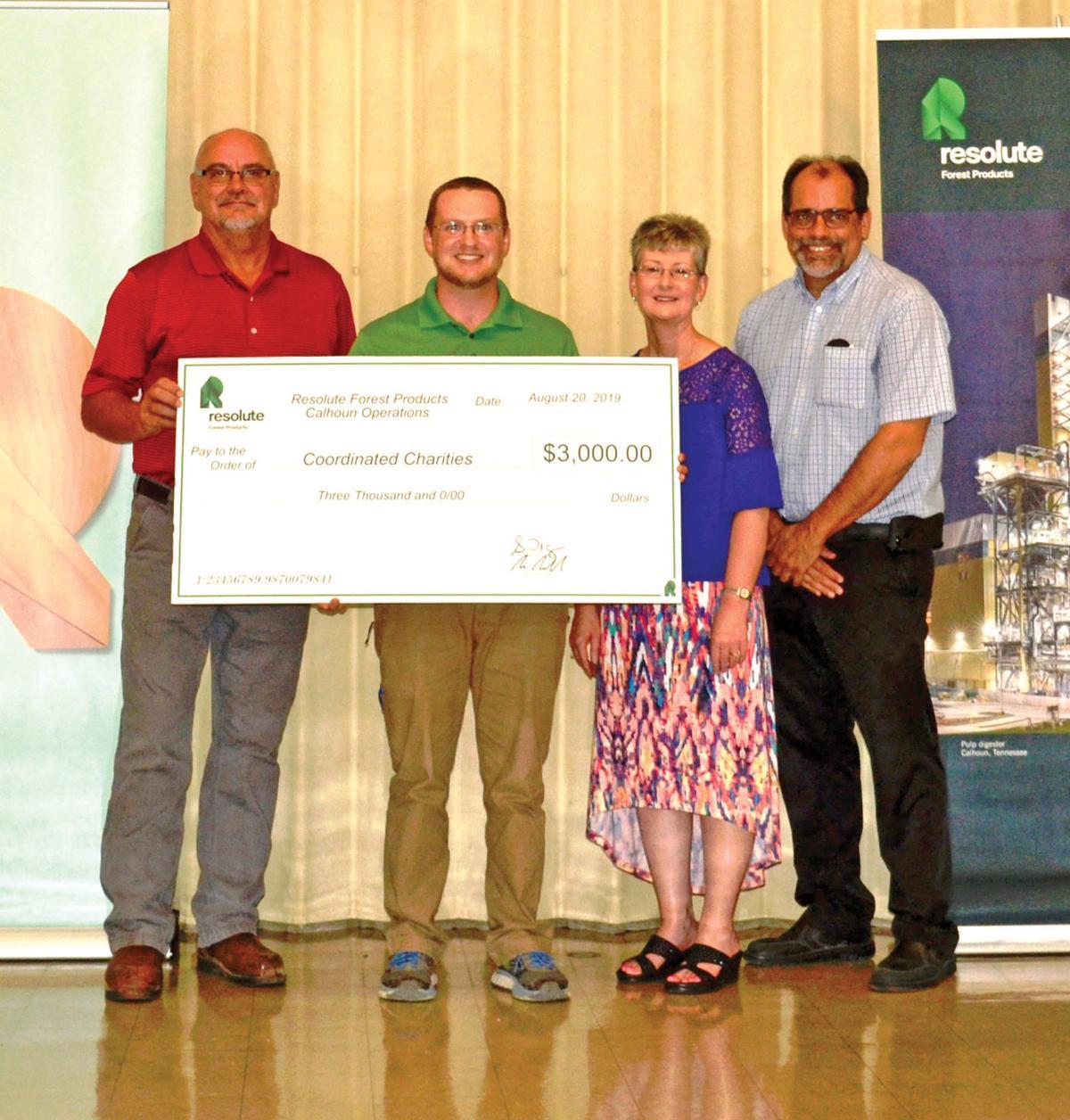 Resolute donates to area charities